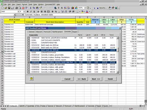 Concretecost Estimator For Excelconstruction Office Online Microsoft Office Estimate Template