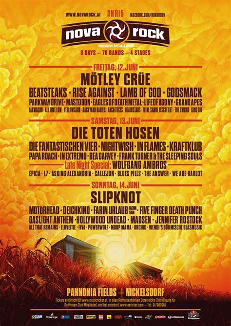 metal calendar nova rock