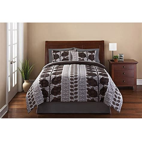 mainstays bedding set mainstays laurel 3 piece reversible bedding comforter set