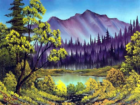 bob ross painting clip pinturas al oleo imagenes de bob ross taringa
