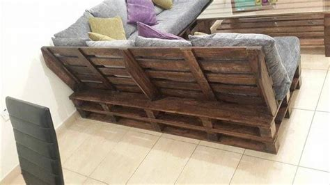 l shaped pallet couch diy pallet l shaped sofa coffee table for living room
