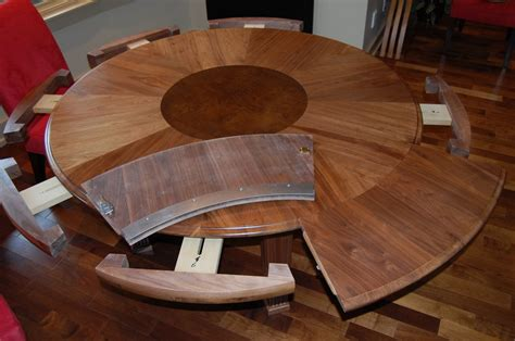 expanding round dining room table expandable dining table by fuzzydove lumberjocks com