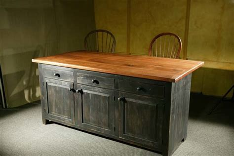 reclaimed kitchen islands reclaimed wood kitchen island with black base lake and mountain home
