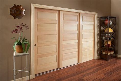 interior sliding bypass closet doors wood design