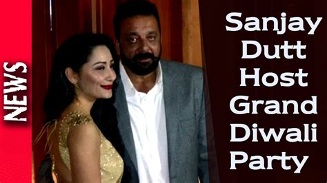 latest bollywood celeb gossip latest bollywood news celebs at sanjay dutt s diwali