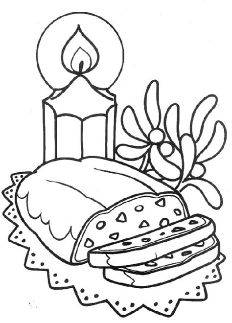big cake coloring pages coloring page large christmas candle and cake coloring me