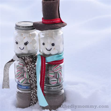 diy snowman jars for christmas gifts images