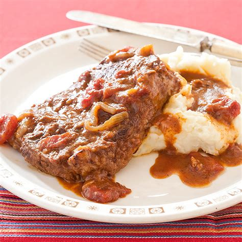 swiss steak with tomato gravy cook s country