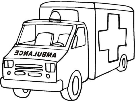 coloring page of an ambulance ambulance coloring pages to download and print for free