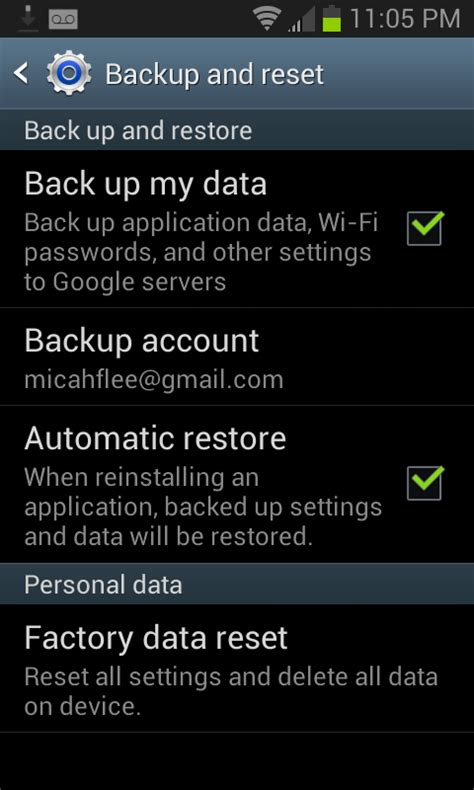 reset android data usage how to use default backup and restore data on the android