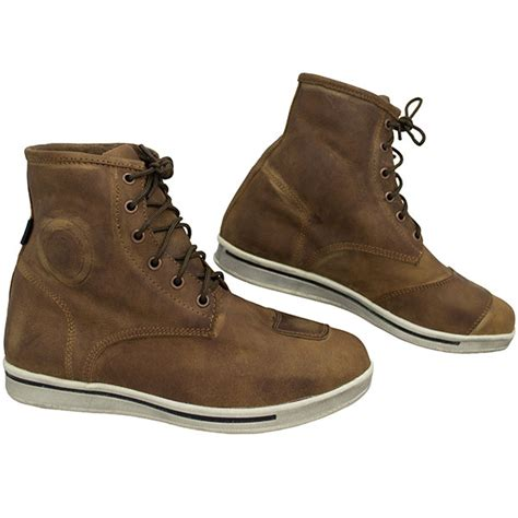 brown leather moto boots armr moto nikko 2 leather boots brown free uk delivery