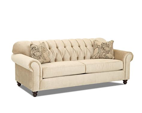 tufted back sofa traditional sofa with tufted back by klaussner wolf and