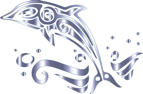 clipart chromatic tribal dolphin 13 no background
