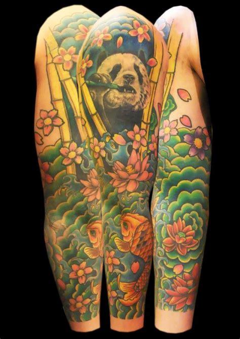 panda japanese tattoo 25 self expression sleeve tattoo designs ideas tutorialchip