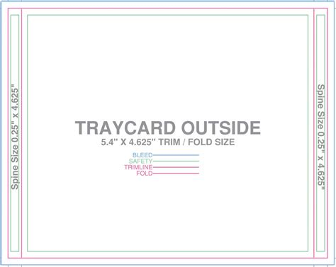 cd tray card template free design templates
