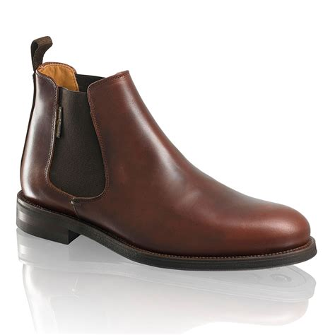 and bromley shoes guildford chelsea boot in brown leather bromley