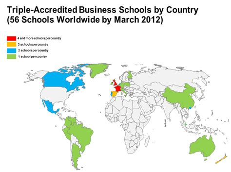 Mba Schools Maps by Accreditation