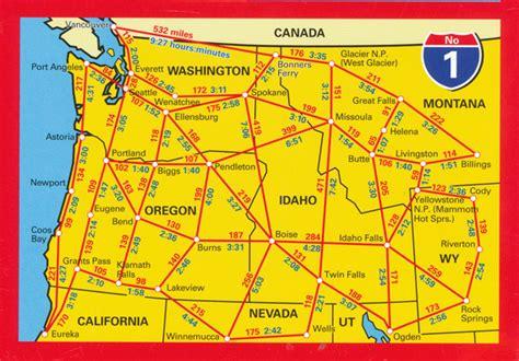 road map nw usa usa pacific northwest map 1 hallwag maps books