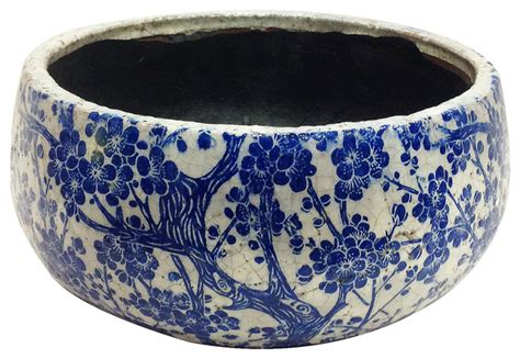 Antique Style Blue White Ornate Porcelain Garden Water Can Collectible 14cm 5 5 Quot Ebay World Vintage Style Blue And White Ceramic Garden Pots Asian Indoor Pots And Planters