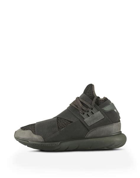 Sepatu Adidas Y 3 Qasa y 3 qasa high sneakers in green for adidas y 3