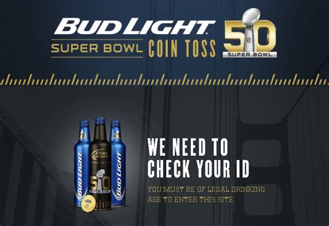 Bud Light Sweepstakes - bud light 174 super bowl coin toss sweepstakes giftout free giveaways singapore