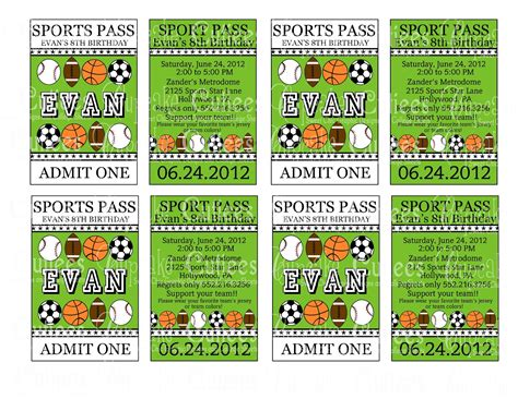 sport ticket template microsoft exchange administrator