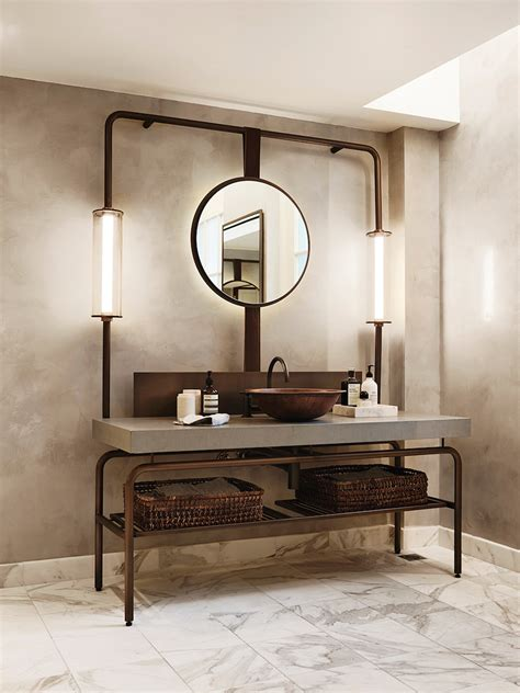 10 Lighting Design Ideas To Embellish Your Industrial Bathroom Industrial Bathroom Mirrors