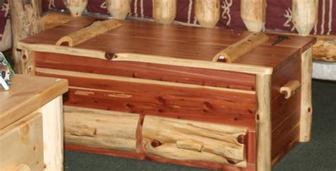 Red Bedroom Chairs - rustic cedar log hope chest with drawers