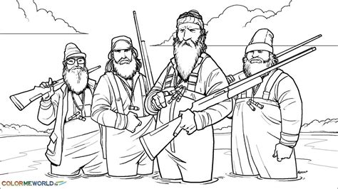 duck dynasty pdf printable coloring page duck dynasty