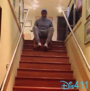 How To Slide Down The Stairs by Zendaya Posted A Video Of Trevor Jackson Having Fun On