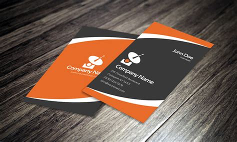 orange and black business card psd design techfameplus 25 free psd business card templates that you should