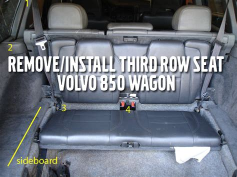 volvo xc90 3rd row seat removal remove install third row seat volvo 850 wagon mvs