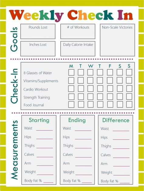 Printable Food And Exercise Planner | free fitness journal meal planning printables