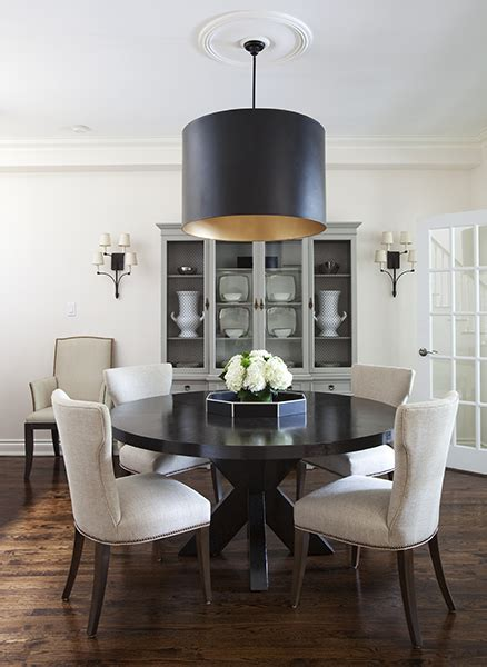 dining rooms with round tables round espresso dining table contemporary dining room