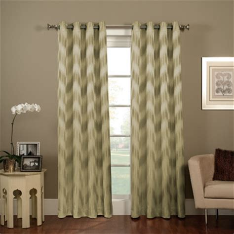 Grommet Chevron Curtains Chevron Ikat Grommet Window Curtain Panel Contemporary Curtains By Bed Bath Beyond