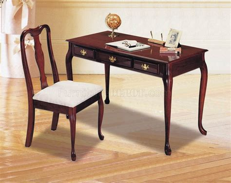 Classic Office Desk Cherry Finish Classic Home Office Desk W Chair