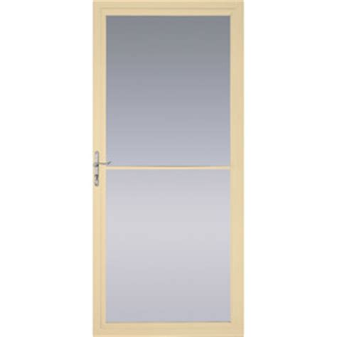 pella retractable screen door shop pella poplar white full view tempered glass retractable screen storm door common 32 in x