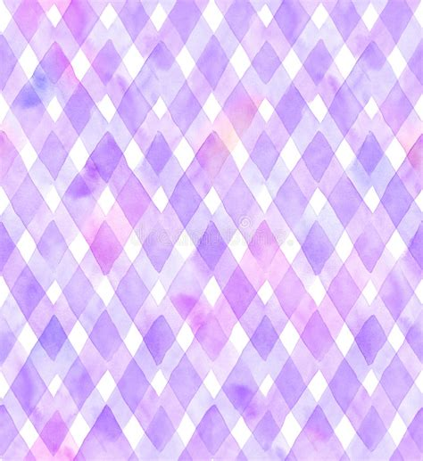 watercolor seamless pattern chevrons of purple and pink colors on white background