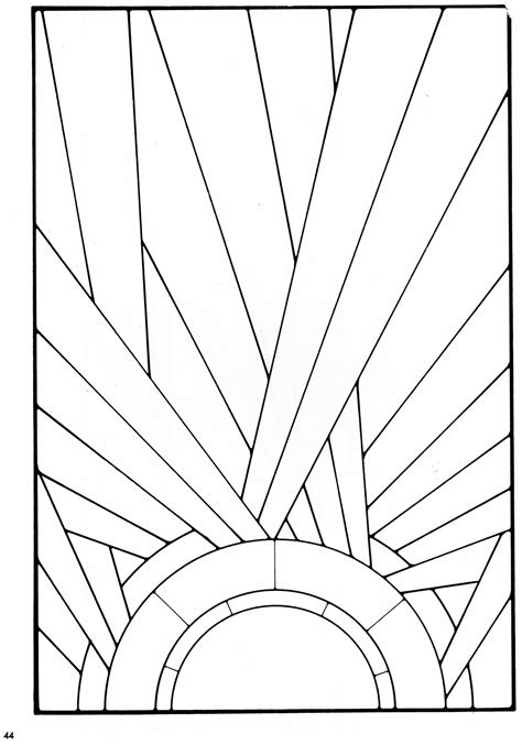 deco templates stained glass pattern from a book of deco stained