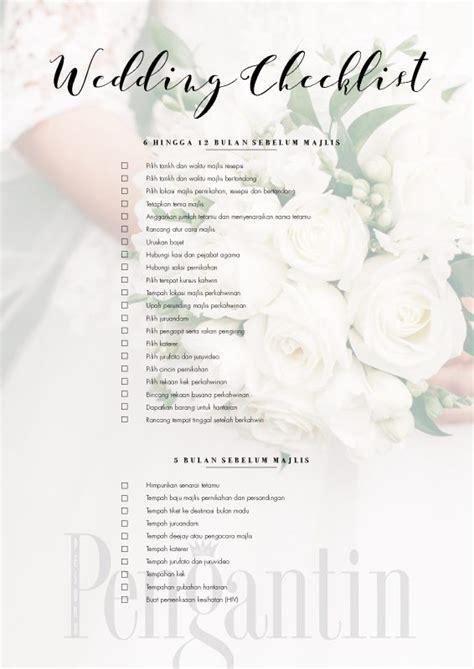 Wedding Checklist Kahwin by Wedding Checklist Pesona Pengantin