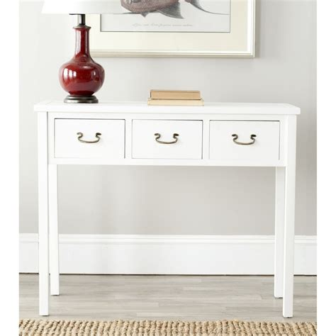 White Console Table Safavieh White Console Table