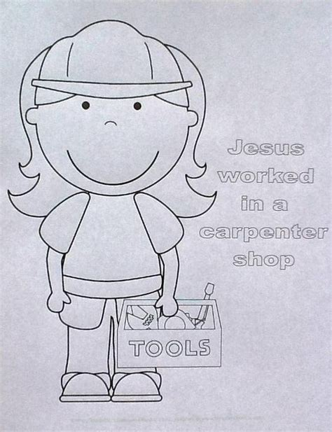 tools coloring pages preschool bible fun for kids jesus worked in the carpenter shop