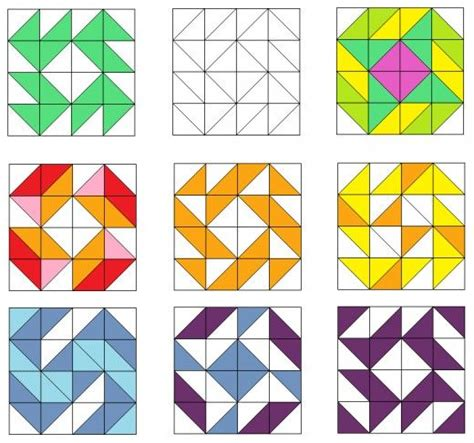 triangle pattern maker 511 best images about half square triangle quilts on