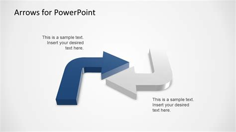 3d arrows powerpoint template slidemodel