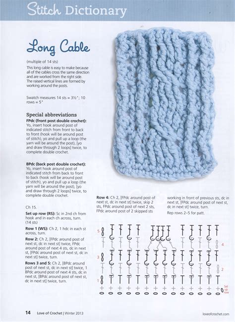 crochet cable stitches crochet kingdom