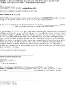 Cover Letter I 751 by Affidavit Of Support Sle Letter Marriage The Best Letter Sle