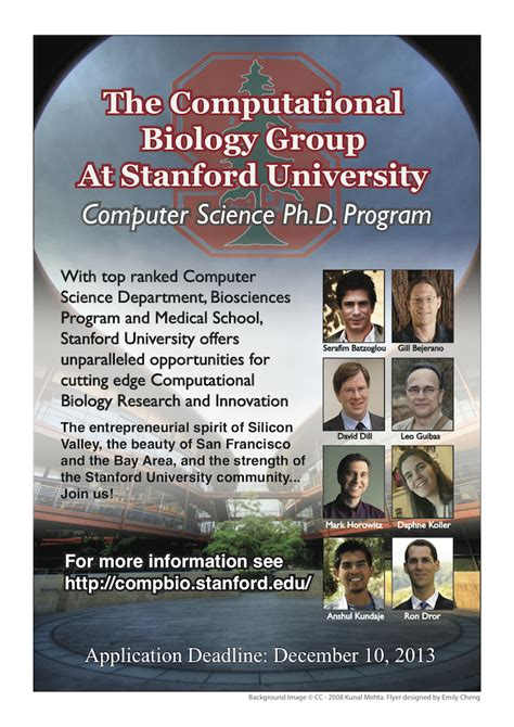 Stanford Masters Computer Science Mba by Computational Biology Stanford Computer Science Dept