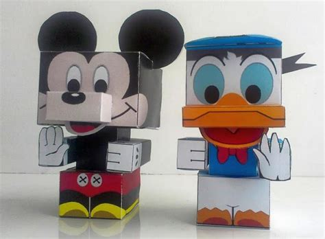 Mickey Mouse Papercraft - papermau mickey mouse and donald duck paper toys by