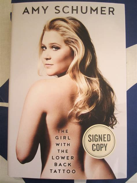amy schumer tattoo schumer autographed the with the lower back