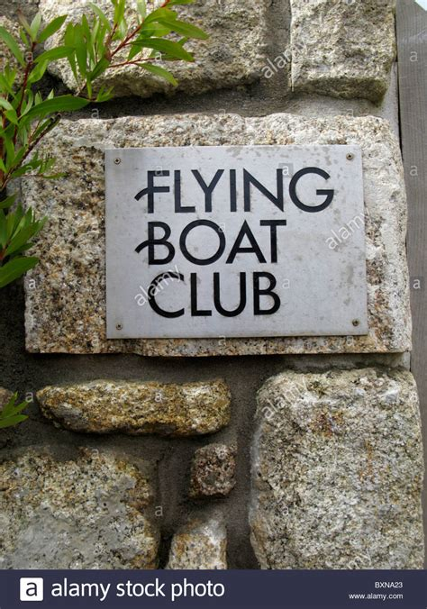 flying boat scilly isles sign of the flying boat club tresco isle of scilly